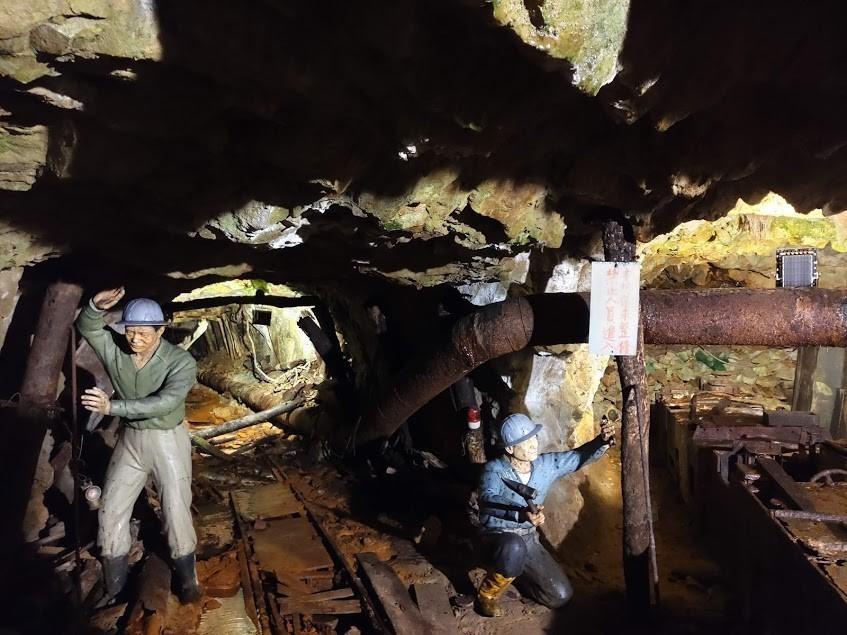 金瓜石景點推薦 | 黃金博物館【本山五坑】坑道黑漆漆探險
