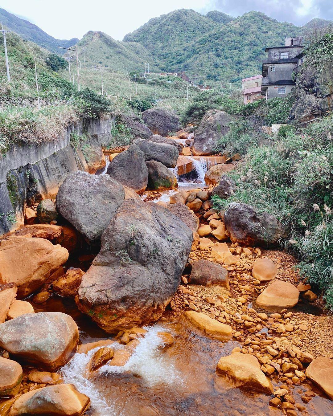 水湳洞一日遊 黃金瀑布