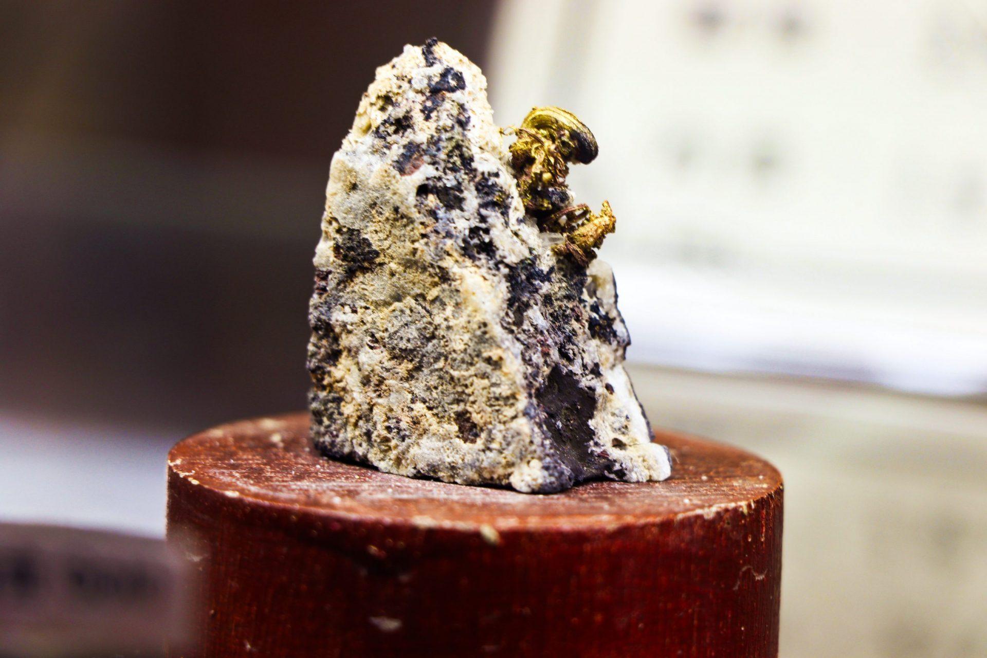 九份金礦博物館 原石區金礦